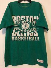 Mitchell & Ness BOSTON CELTICS Size Large Green T-Shirt Pre-Owned NBA