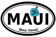 Aufkleber US-5830-dig  Maui Hawaii Oval vacation spot 152mmX101mm
