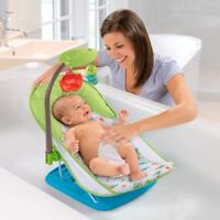Deluxe Infant & Baby Bather Caterpillar Foldable Bath Time Support Seat + 2 Toys