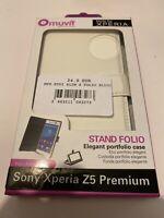 🤩 coque protectio téléphone sony xperia z5 premium slim folio portfolio case