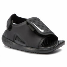 Nike Sunray Adjust 5 (TD) AJ9077 001 black/white Toddler Shoes Free Shipping