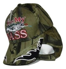 Redneck Hillbilly Kiss My Bass Camo Camouflage fish fishing hat cap #3