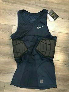 New Nike Pro Hyperstrong Top Compression Padded Jersey Mens XLT Navy 746882-419