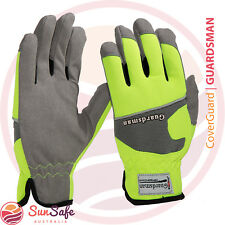 Gardening Gloves Synthetic Leather and Spandex High Visibility Comfortable