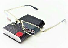 Premium Folding Gold Reading Glasses & Hard Metal Book Case 7 Strengths - No1