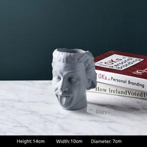 Head Flower Vase Sculpture Figurine Ornament Tabletop Home Office Decoration Art