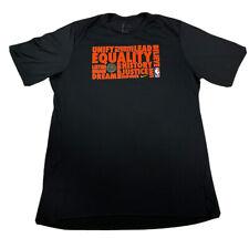 Nike Dri-Fit NBA BHM Black History Month Equality T-Shirt Tee Mens Size XXL Rare