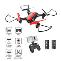 Holy Stone HS370 FPV Mini Drone with Camera FPV Wifi Quadcopter 2 Battery Tapfly