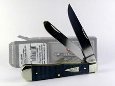 Case Turquoise Smooth Curly Maple Trapper Folding Pocket Knife 23360