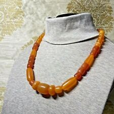 Fun Fakelite Lucite Plastic Necklace Orange Amber Butterscotch Bakelite Inspired