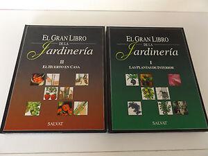 1996 EL GRAN LIBRO DE LA JARDINERIA 2/2 Vol. SALVAT Illustrated Hardback SPANISH