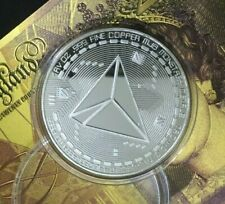 Tron TRX Crypto currency . 999 Silver Plated On Solid Copper Novelty Coin