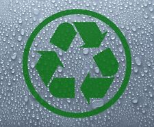 Simbolo di riciclaggio di riciclaggio Logo Vinile Adesivo Decalcomania bidone impennata #4 - dec1066