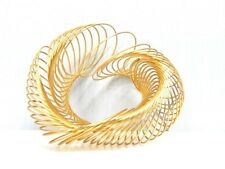 Nos Vintage 1960s Slinky Spring Coil Accordian Wristband Bracelet Cuff Bangle
