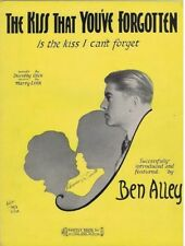 The Kiss That You've Forgotten, Ben Alley photo, 1931, vintage sheet music