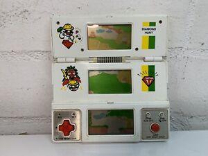 DIAMOND HUNT Vintage handheld electronic game tri screen VTECH time & fun