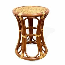 Breeze Handmade Rattan Wicker Stool, Plant Stand, Natural Material, 3 Colors
