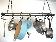 Soffitto Pot Rack, ferro battuto