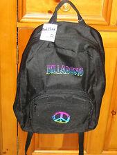 NWT Billabong Black/Multi Peace Sign Backpack Rucksack School, Skate, Travel