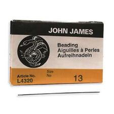 25 Number 13 JOHN JAMES English Beading Needles #13 - Fine - BN13