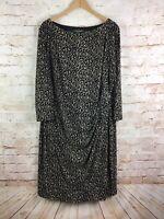 Lauren Ralph Lauren Womens Animal Print Stretch Dress Plus Size 22 W
