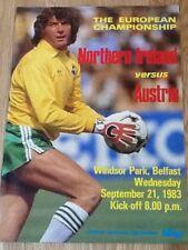 Northern Ireland v Austria - European Championship Group 6 Qualifier 21Sep83