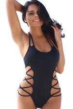 Costume Da Bagno Monokini Strings Strappy Cut out slim sling Swimwear Swimsut S