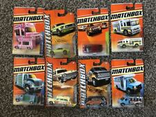 Matchbox lot of 8 cars Ice Cream Truck, Mustang, Aqua King, GMC Bus, Cadillac