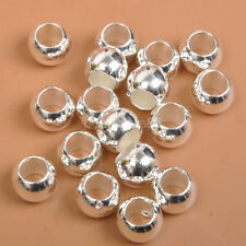 100PCS   silver CCB plastic beads space Jewelry Findings bead 6X8MM
