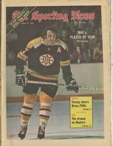 1973 Sporting News No Label Phil Esposito Boston Bruin POY Stan Musial Cardinals