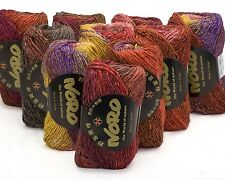 10 x 50g Multicoloured Noro Silk Garden - sh 400