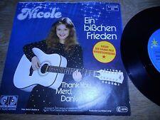 """NICOLE """"EIN BISSCHEN FRIEDEN"""" 1982 WEST GERMAN EUROVISION WINNER JUPITER RECORDS"""