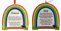 RAINBOW BRIDGE PERSONALISED DOG MEMORIAL PLAQUE - ANY NAME ADDED