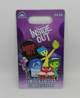 Inside Out Joy Anger Sadness Disgust Fear 5th Anniversary Disney Pixar Pin