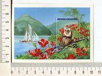 36748) Grenada Grenadines 1986 MNH Monkey S/S