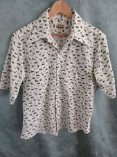Late 60's / Early 70's 'The New Yorker' Animal Print Shirt Men's Size 16