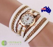Faux Leather Band Aluminum Case Women's Wristwatches