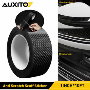 Car Door Protector Sill Scuff Cover Sticker Antiscratch Carbon Fiber 1IN*10FT