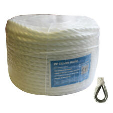 10mm 100M Marine Silver Rope Mooring Line Anchor Coil SS Thimble 1180Kg 93001029