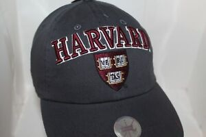 HARVARD CREST HAT,CAP One Size Fits Most  Off. Licensed Harvard          NEW