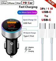 Fast Car Charger Type-C USB Cable For OEM Samsung Galaxy S20 S10 S9 S8 Note 10 8