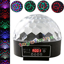 Efecto RGB Digital Crystal Ball Magic Light DMX Disco DJ Iluminación Escénica