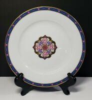 "White/Gold/Blue/Purple/Pink 10 1/2"" Dinner Plates Set of 3"