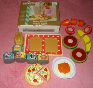LITTLE TOWN WOODEN PLAYFOOD, FRUIT AND VEGGIES AGE 3+