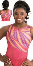NWT E3283 Sunrise Splash Holotek Simone Biles GK ™ gymnastics leotard AM