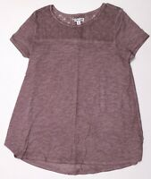 New Women's Mauve NWOT Liz Lange Maternity Short Sleeve Top Tunic Shirt Size XS