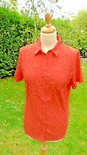 Gerry Weber short sleeved patterned blouse size 14                          (C1)