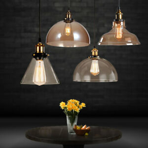 Vintage Industrial Glass Pendant Light Shade Chandelier Retro Ceiling Lamp Shade
