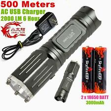 SMALL SUN 2000lumen 500meter CREE XML T6 LED TACTICAL POLICE FLASHLIGHT TORCH 49