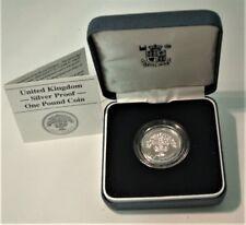 United Kingdom 1987 - Silver Proof - English Oak - One Pound - Spinks Ref: 4333
